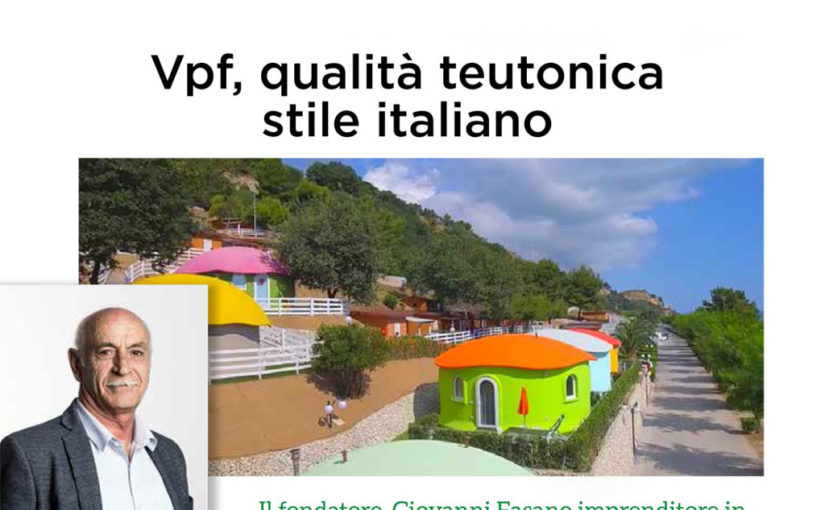 """Vpf, qualità teutonica stile italiano, articolo sul Magazine """"CAMPING MANAGEMENT 2018"""""""