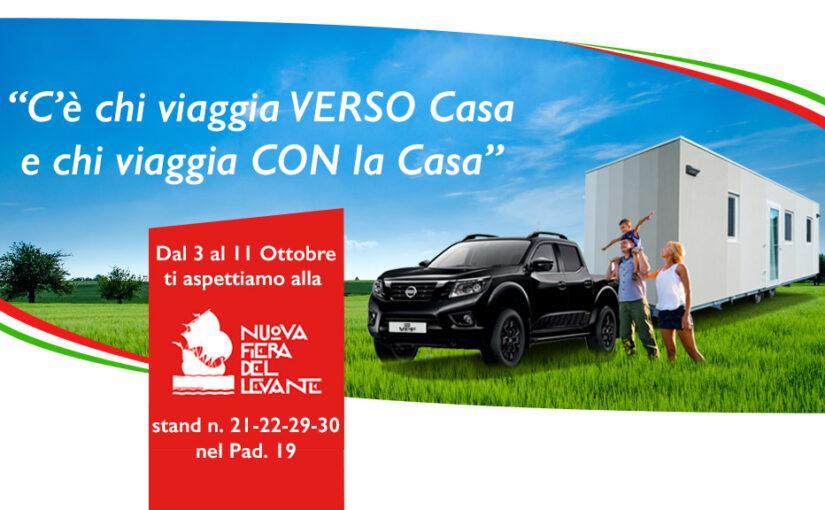 La Casa Caravan in Fiera del Levante a Bari dal 3 all'11 Ottobre
